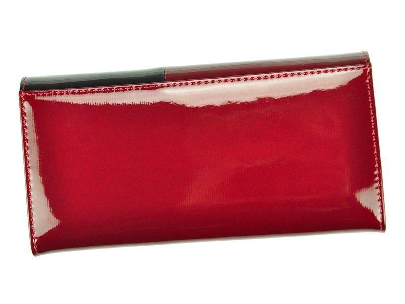 Gregorio Kožená červeno-černá dámská peněženka v dárkové krabičce
