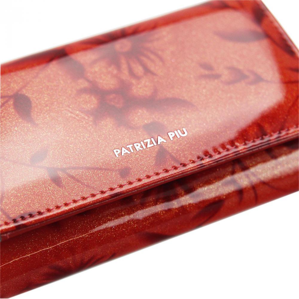 PATRIZIA PIU luxusná červená dámska kožená peňaženka RFID v darčekovej krabičke