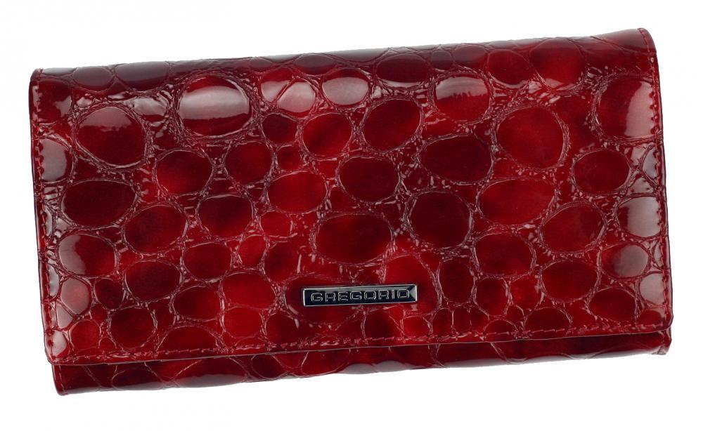 Gregorio Kožená červená dámská peněženka v dárkové krabičce
