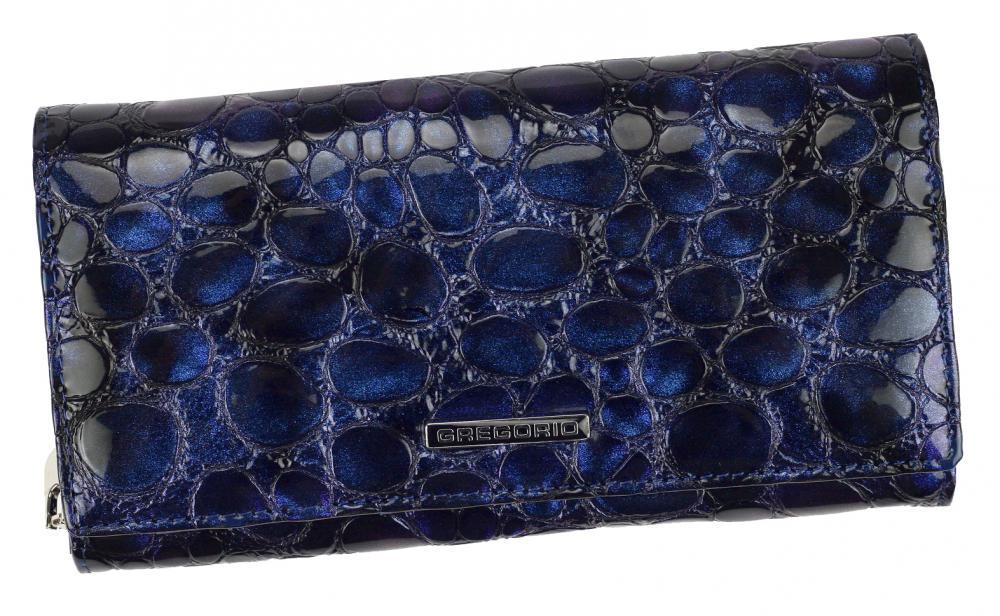Gregorio Kožená modrá dámská peněženka v dárkové krabičce