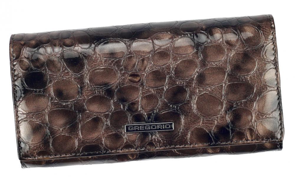 Gregorio Kožená šedá dámská peněženka v dárkové krabičce