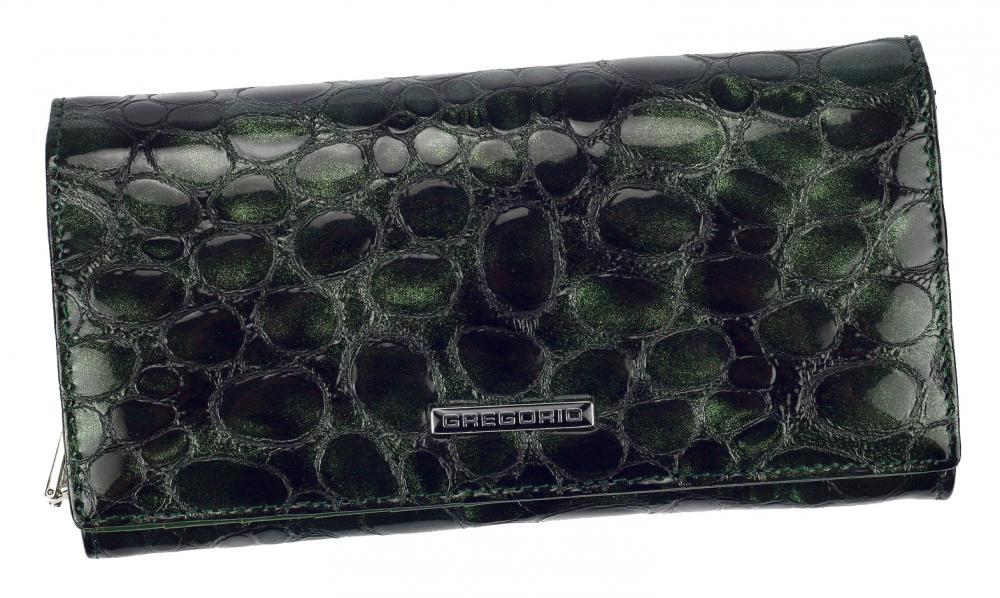 Gregorio Kožená zelená dámská peněženka v dárkové krabičce