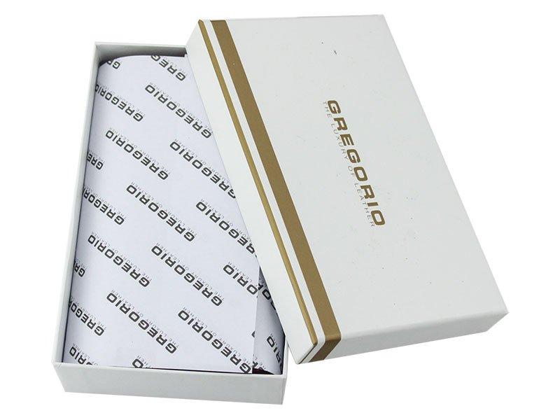 Gregorio červená menšia dámska kožená peňaženka s motýľmi RFID v darčekovej krabičke