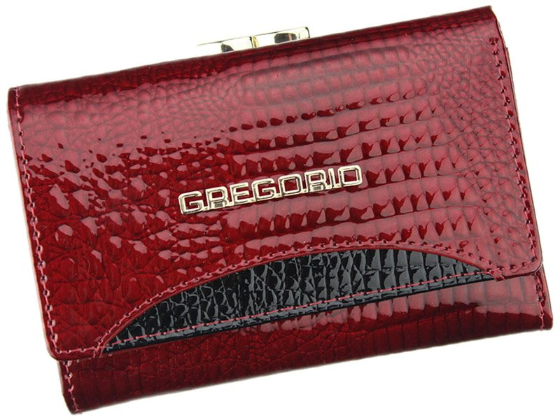 Gregorio červená menší dámská kožená peněženka RFID v dárkové krabičce