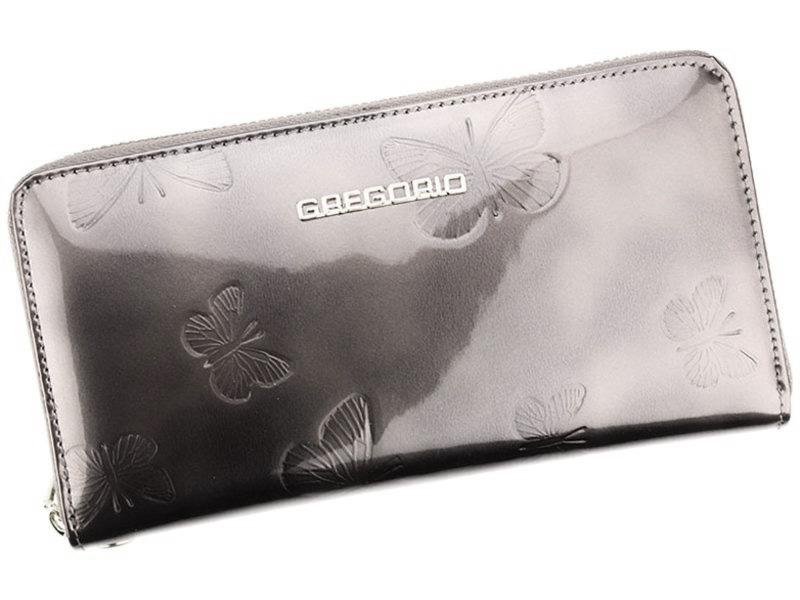 Gregorio luxusná sivá dámska kožená peňaženka v darčekovej krabičke