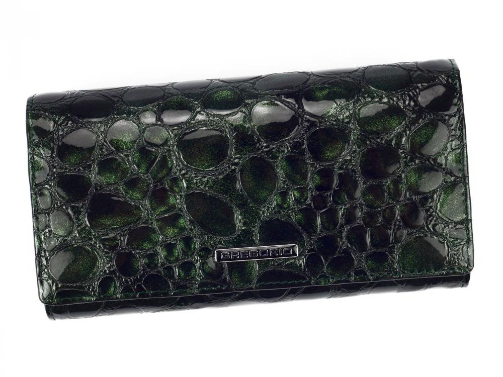 Gregorio Kožená tmavě smaragdová dámská peněženka dárkové krabičce