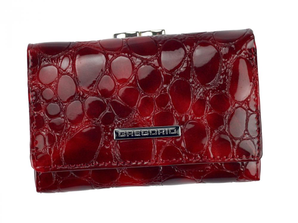 Gregorio červená malá dámská kožená peněženka v dárkové krabičce