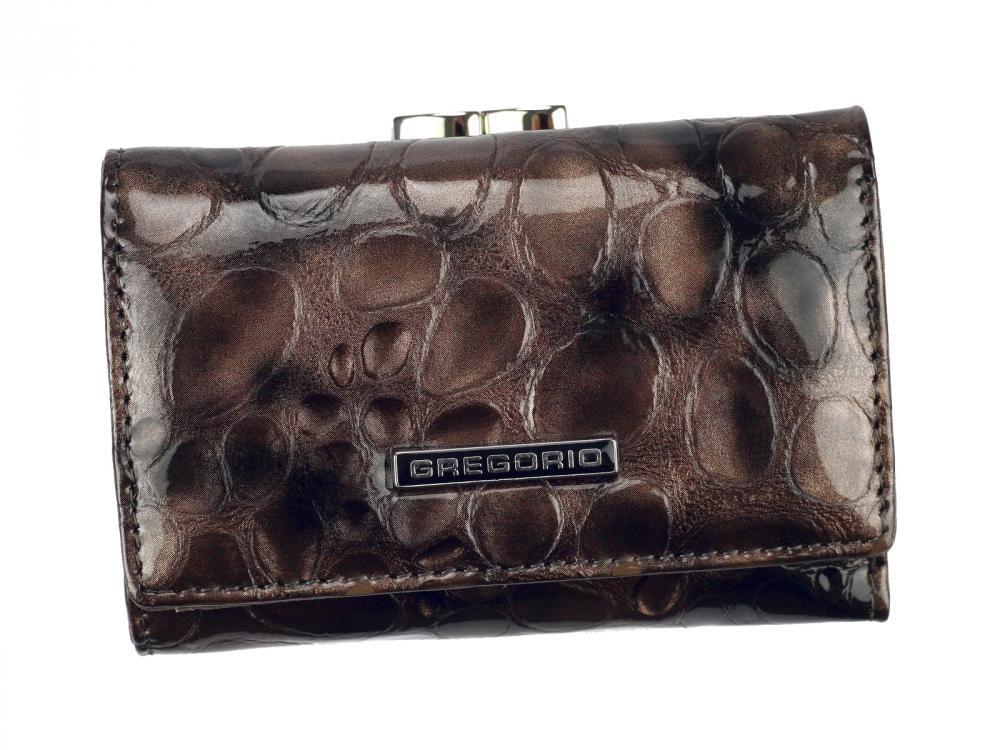 Gregorio šedá malá dámská kožená peněženka v dárkové krabičce