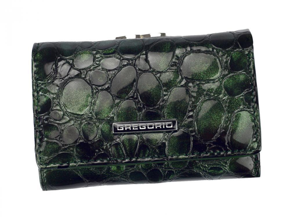 Gregorio zelená malá dámská kožená peněženka v dárkové krabičce