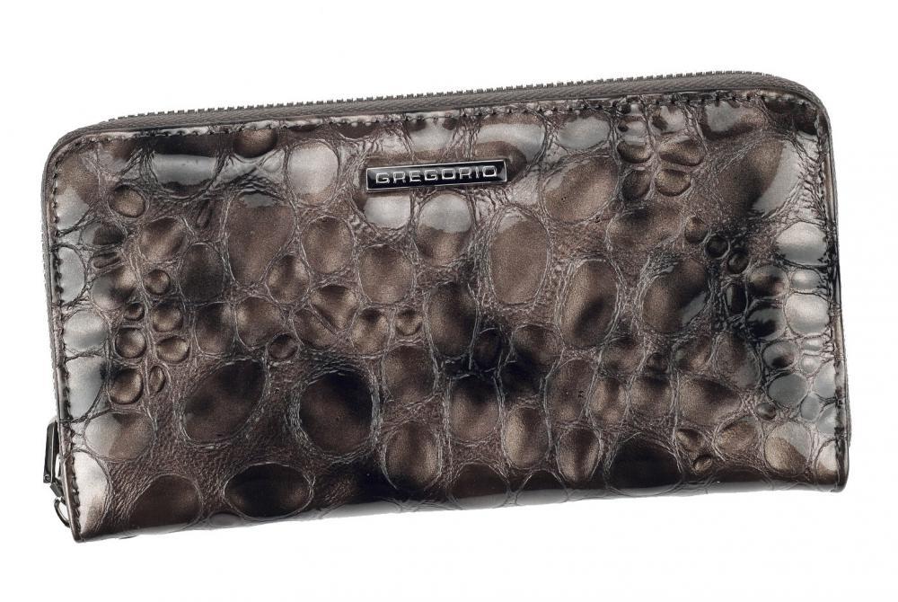 Gregorio luxusná šedá dámska kožená peňaženka v darčekovej krabičke