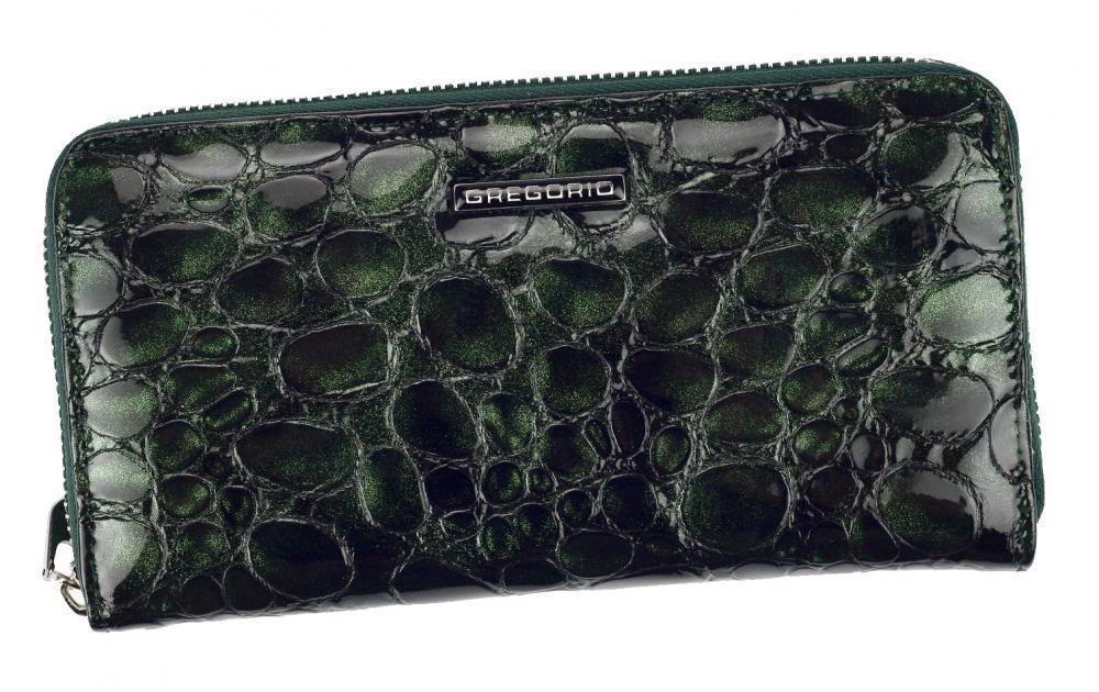 Gregorio luxusná zelená dámska kožená peňaženka v darčekovej krabičke