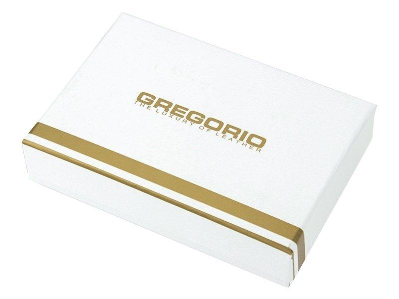 Gregorio čierna lakovaná malá dámska kožená peňaženka v darčekovej krabičke ZLF-117
