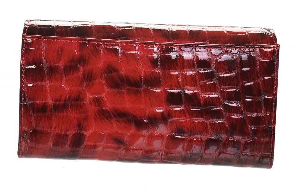 GROSSO Kožená dámská hrubá peněženka RFID červená v dárkové krabičce
