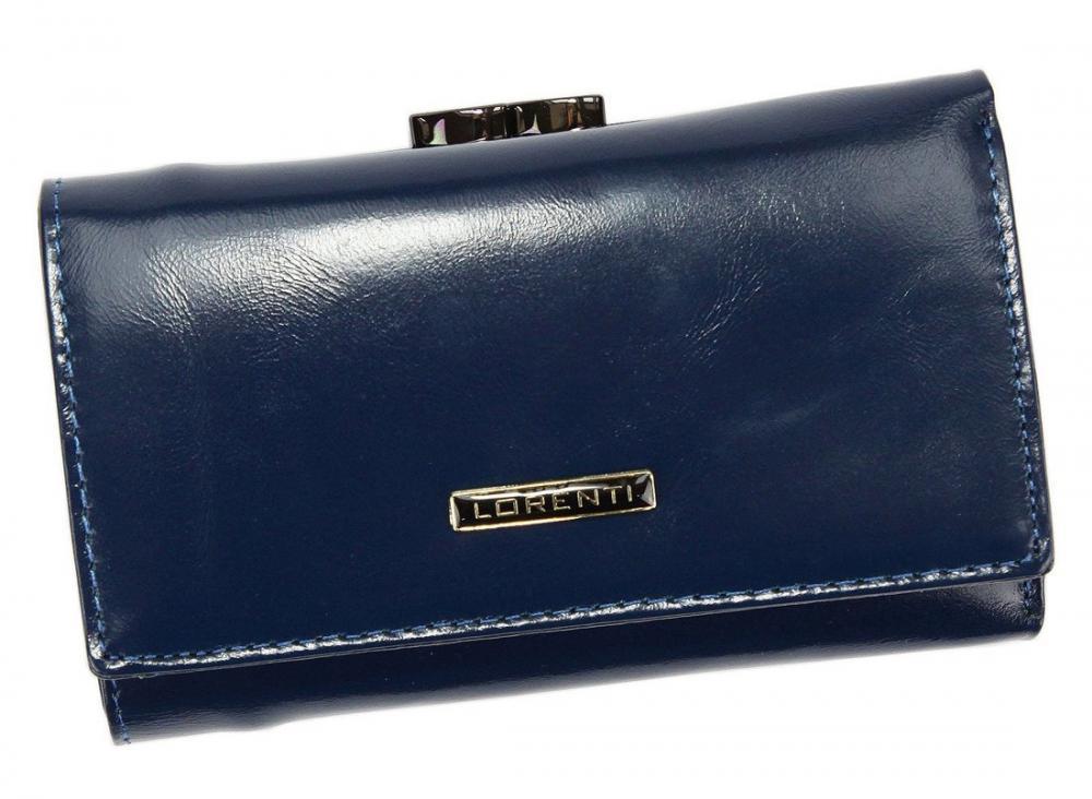 Lorenti modrá dámska kožená peňaženka v darčekovej krabičke