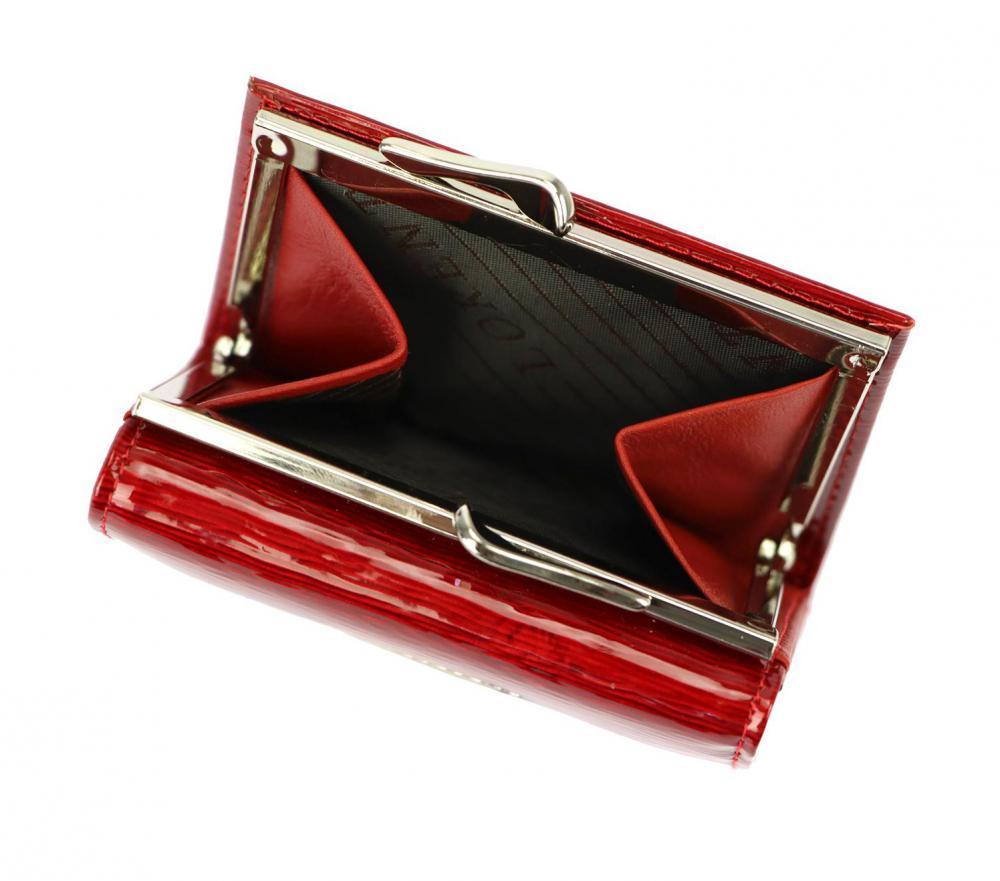 Kožená zelená malá dámska peňaženka RFID v krabičke Lorenti
