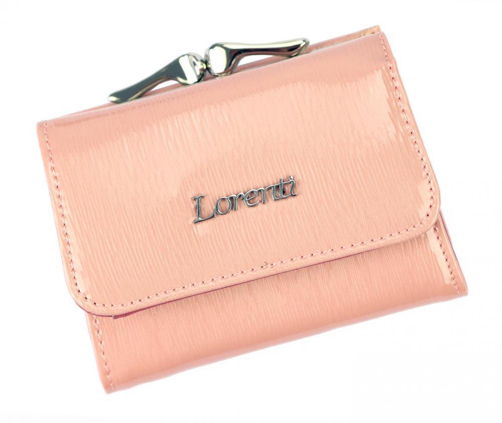 Kožená lososově růžová malá dámská peněženka RFID v krabičce Lorenti