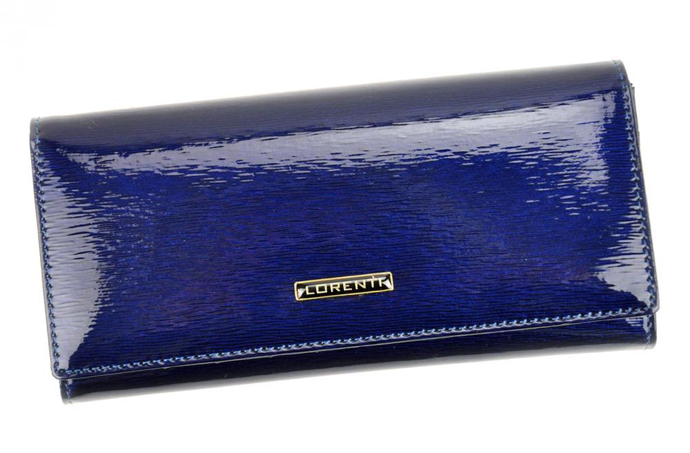 Lorenti modrá dámská kožená peněženka RFID v dárkové krabičce