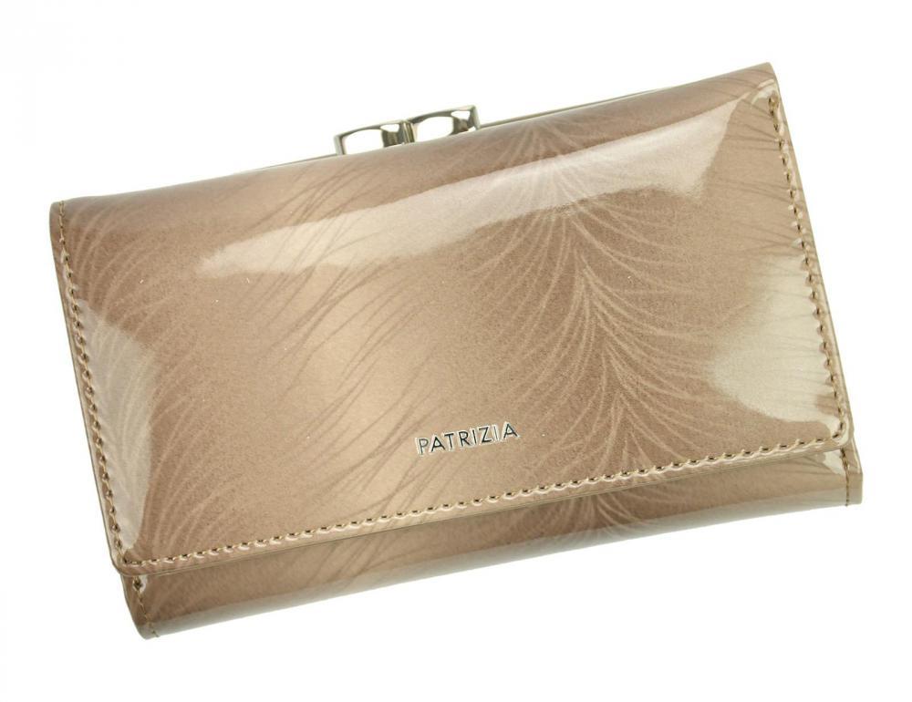 PATRIZIA PIU hnedobéžová dámska kožená peňaženka RFID v darčekovej krabičke