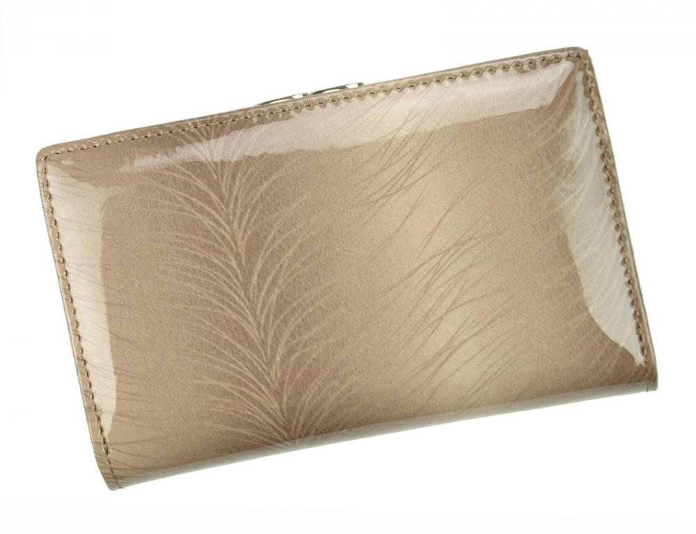 PATRIZIA PIU hnědobéžová dámská kožená peněženka RFID v dárkové krabičce