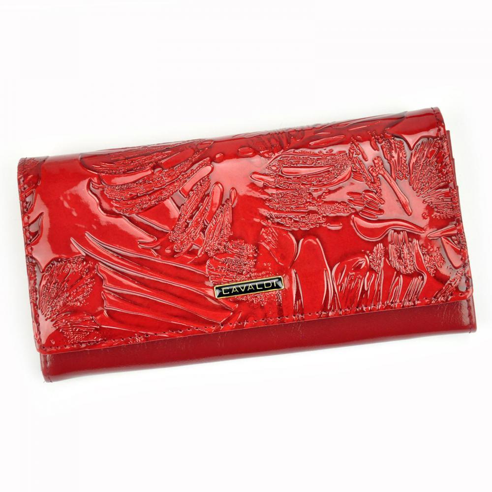 Cavaldi červená dámska hrubá peňaženka koža / PU v darčekovej krabičke