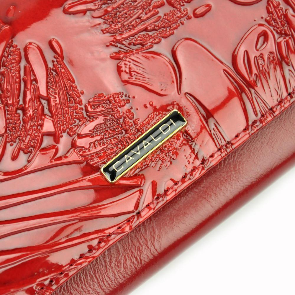 Cavaldi červená dámská hrubá peněženka kůže/PU v dárkové krabičce