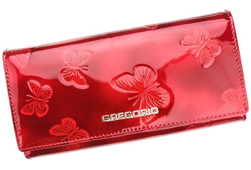 Gregorio Kožená modrá dámská peněženka s motýly v dárkové krabičce
