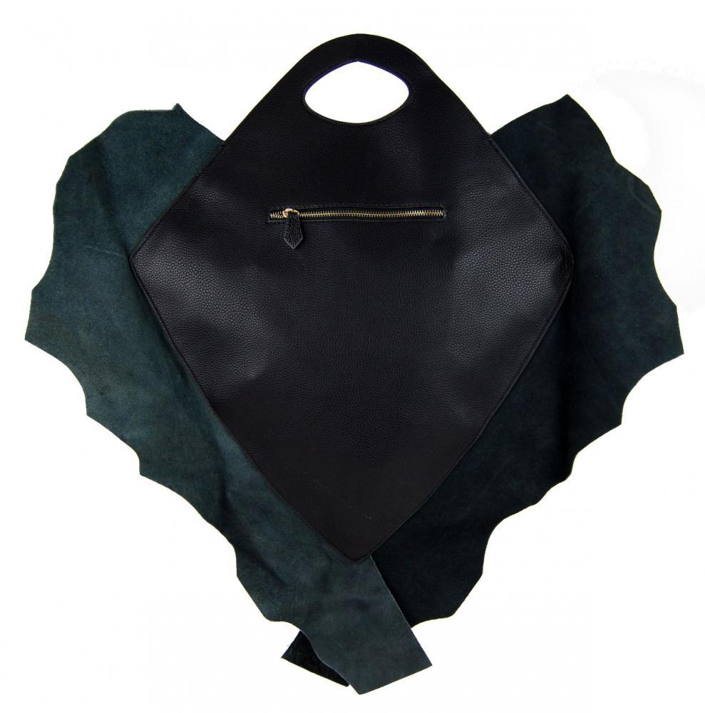 Kožená velká kabelka fasco Berlin Fish Design 68635 fialová