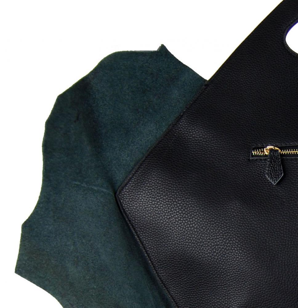 Luxusní KOŽENÁ kabelka fasco Berlin Fish Design 68635 fialová
