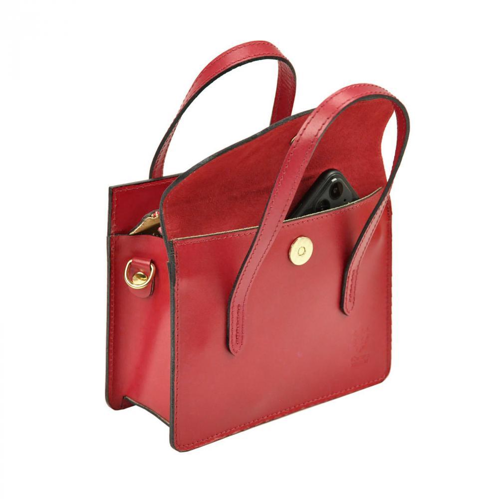 Kožená čierna crossbody kabelka do ruky v minimalistickom dizajne Gregorio