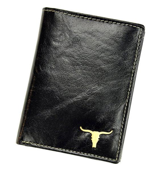 Černá pánská kožená peněženka v krabičce BUFFALO WILD