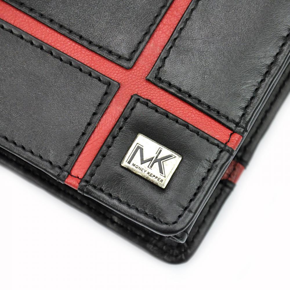 Money Kepper kožená černá pánská RFID peněženka v dárkové krabičce