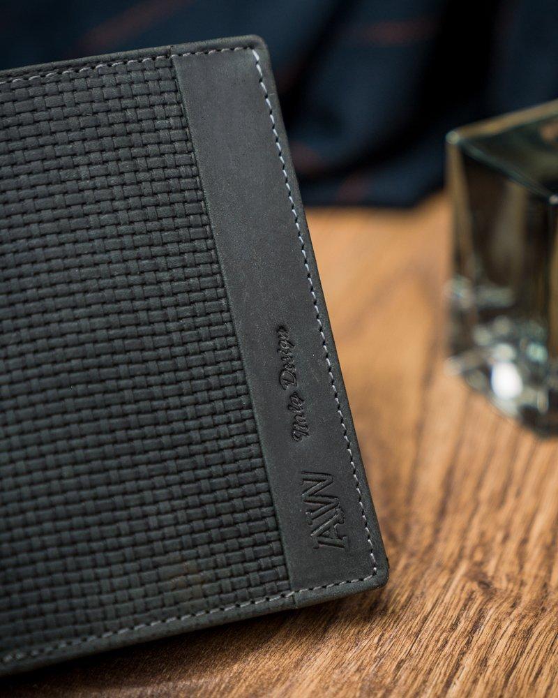 Kožená černá pánská peněženka v krabičce Always Wild