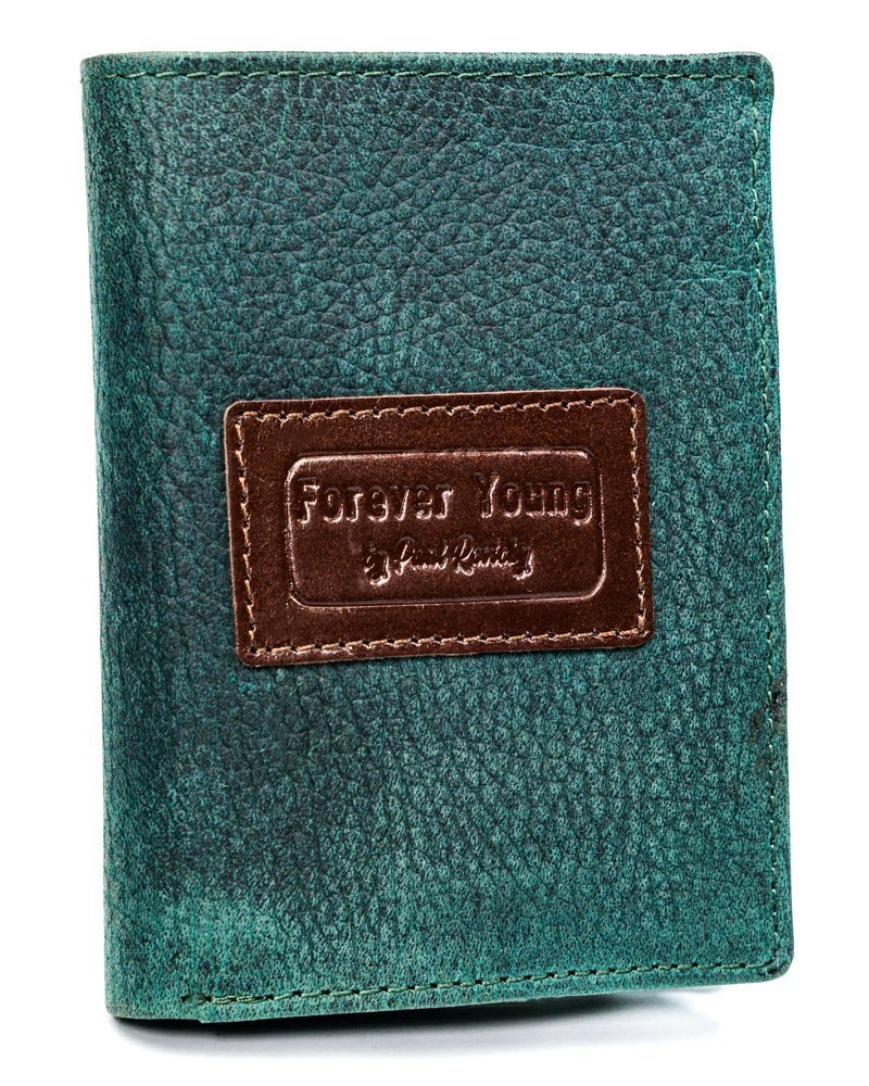 Kožená zelená pánská peněženka RFID v krabičce Forever Young