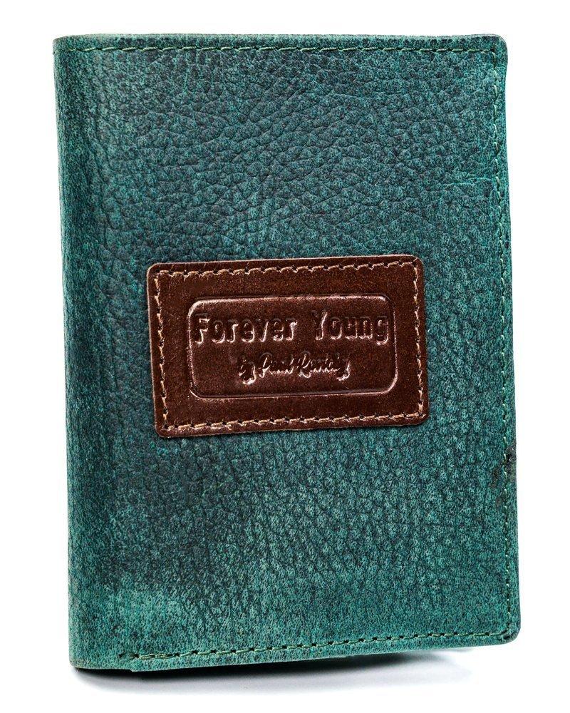 Kožená zelená pánska peňaženka RFID v krabičke Forever Young
