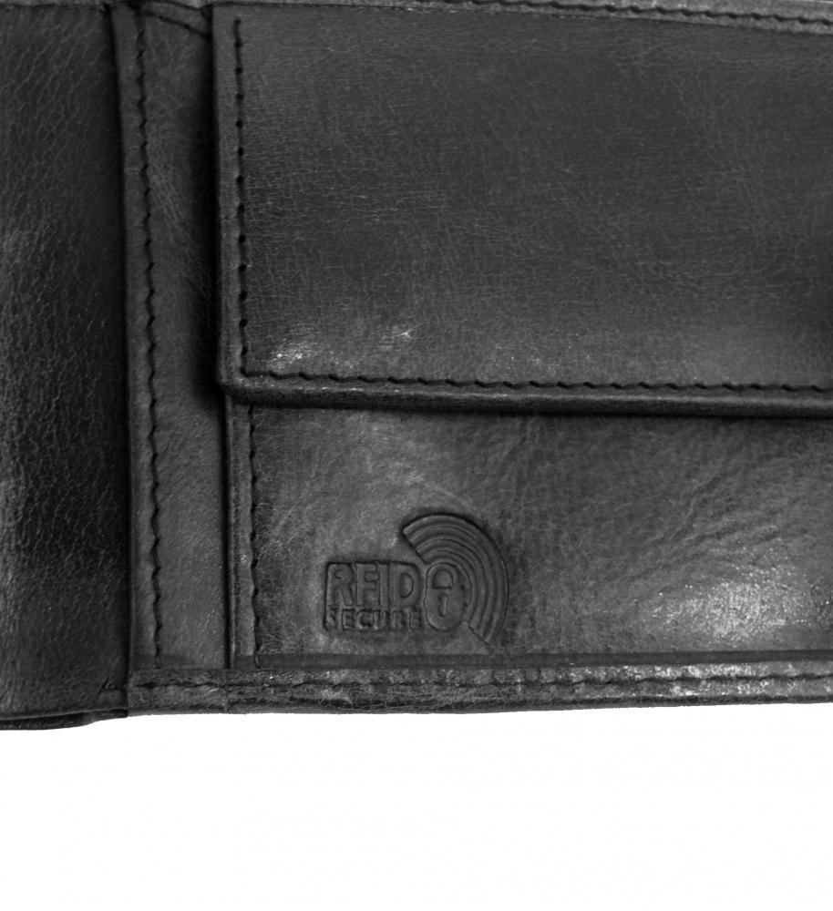 Kožená tmavě hnědá pánská peněženka RFID v krabičce BUFFALO WILD