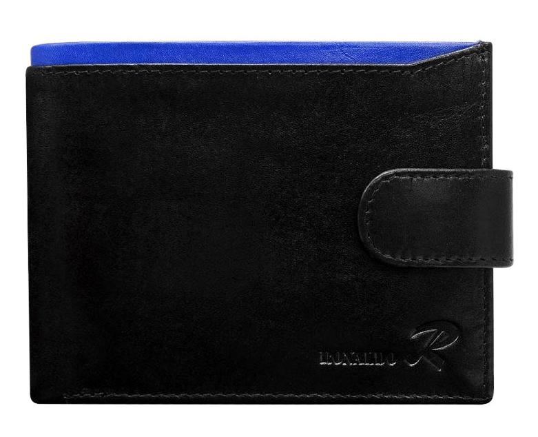 Ronaldo Kožená pánska čierno-modrá peňaženka v krabičke