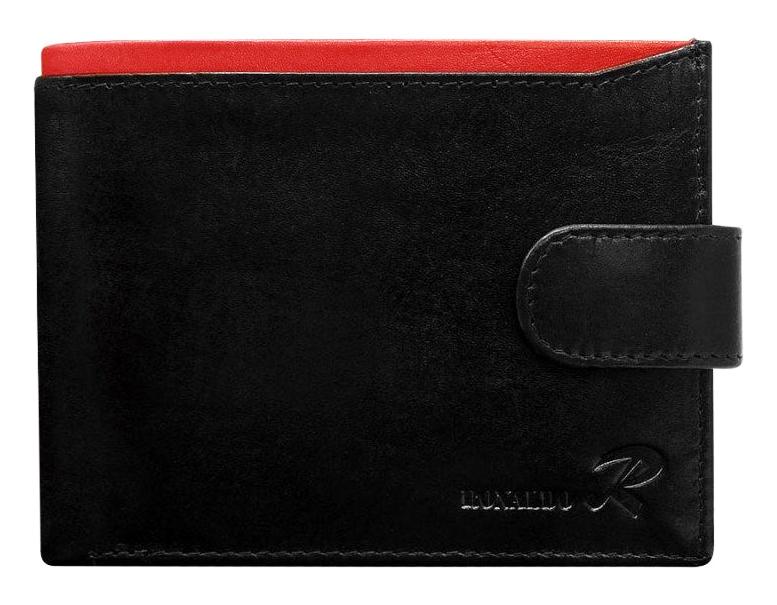 Ronaldo Kožená pánská černo-červená peněženka v krabičce