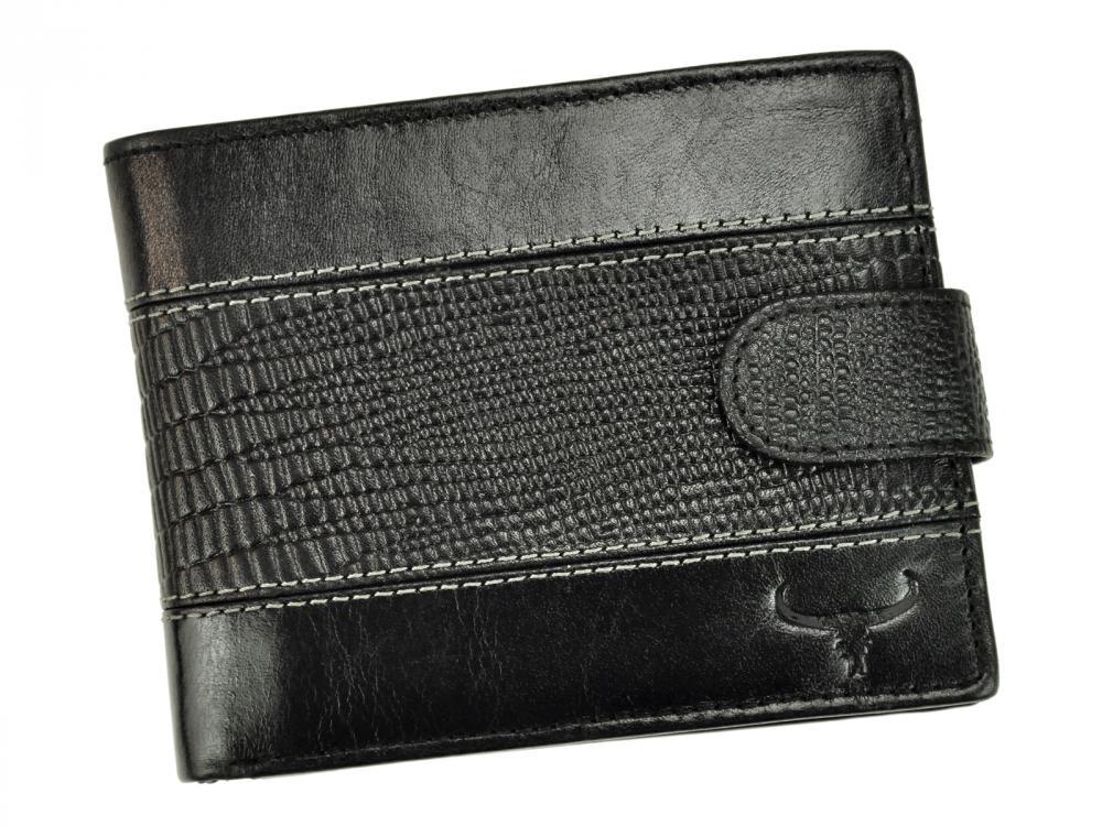Kožená černá RFID pánská peněženka v krabičce BUFFALO WILD