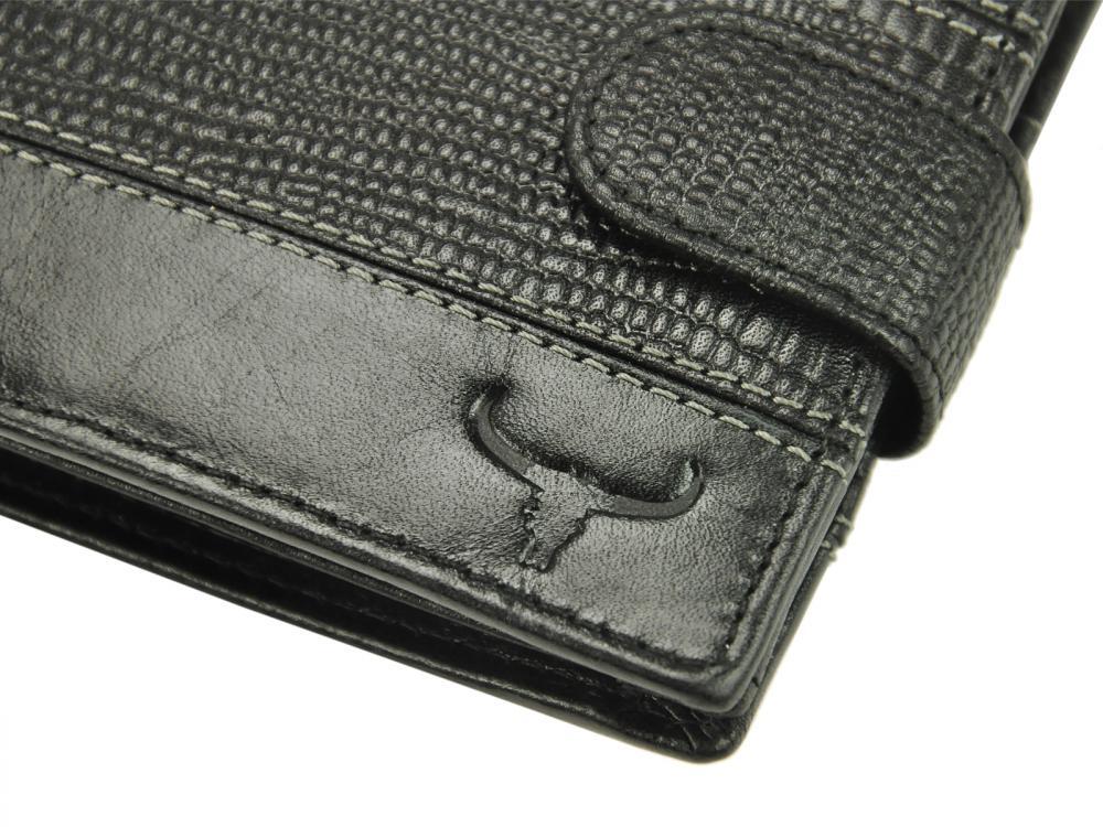 Kožená hnedá RFID pánska peňaženka v krabičke BUFFALO WILD