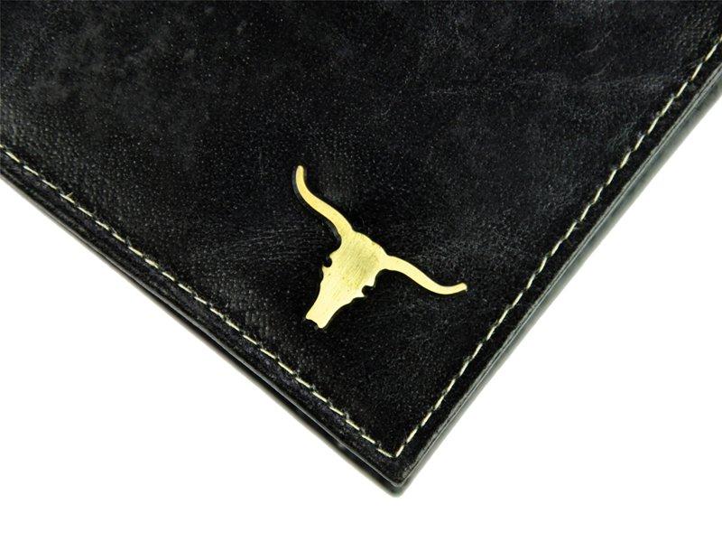 Černá pánská kožená peněženka v krabičce WILD