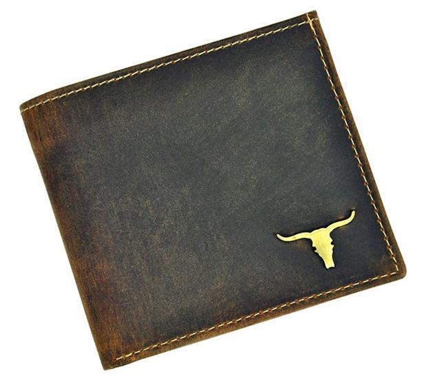 Hnedá pánska kožená peňaženka v krabičke WILD