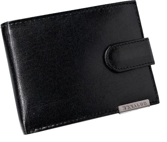 Ronaldo Kožená černá pánská peněženka v krabičce