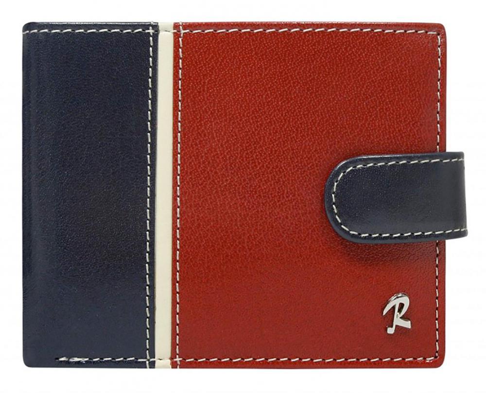 ROVICKY Modro-červená kožená pánská peněženka RFID v krabičce