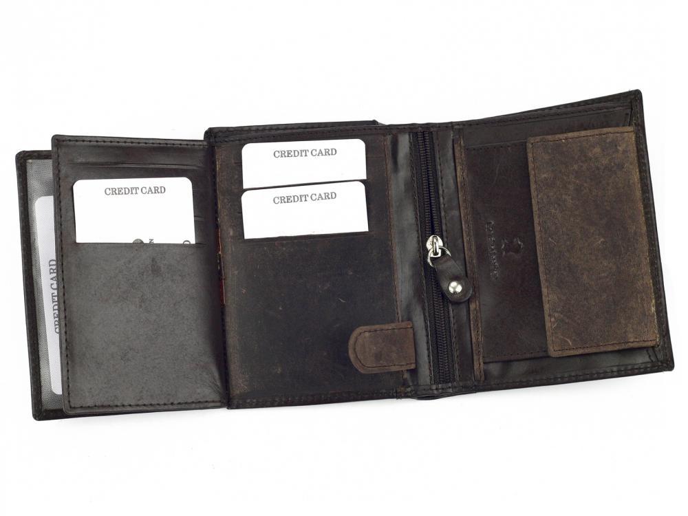 Kožená pánska peňaženka čierna WILD