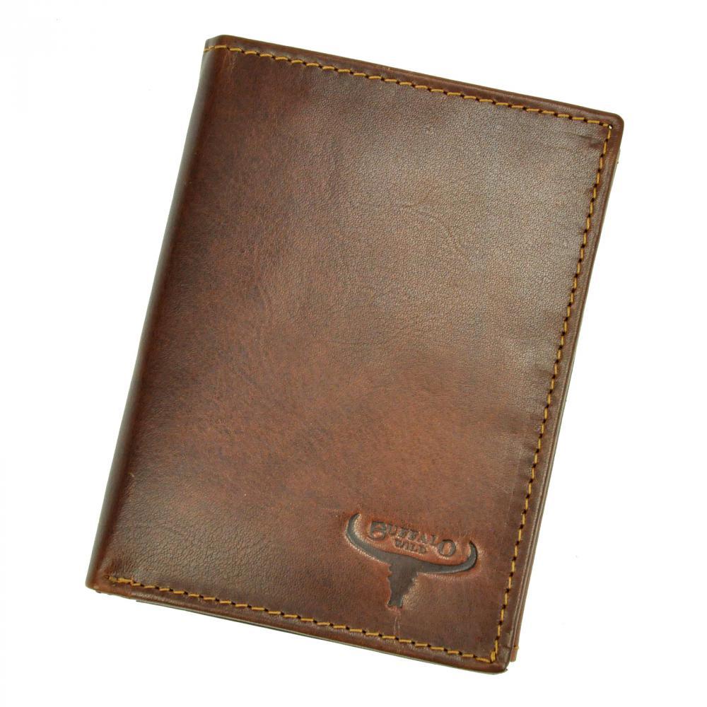 Kožená pánska peňaženka hnedá RFID v krabičke BUFFALO WILD