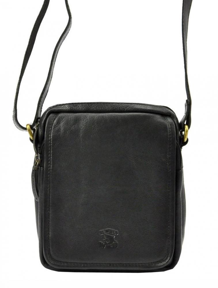 WILD Kožená pánska čierna crossbody taška 5031-SNDM