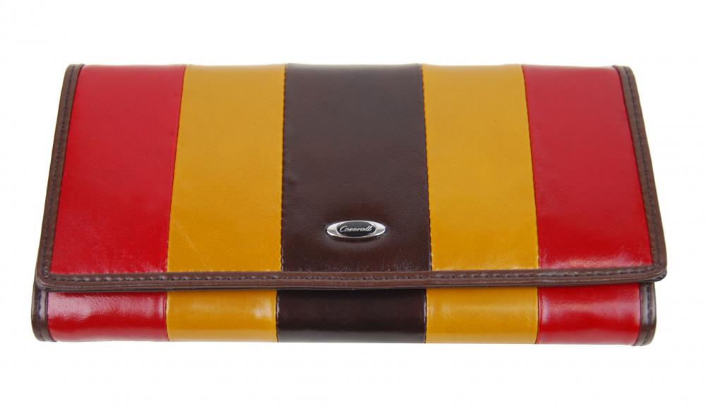 Luxusná kávová kožená magnetická dámska peňaženka v krabičke Cossroll 261-9813B