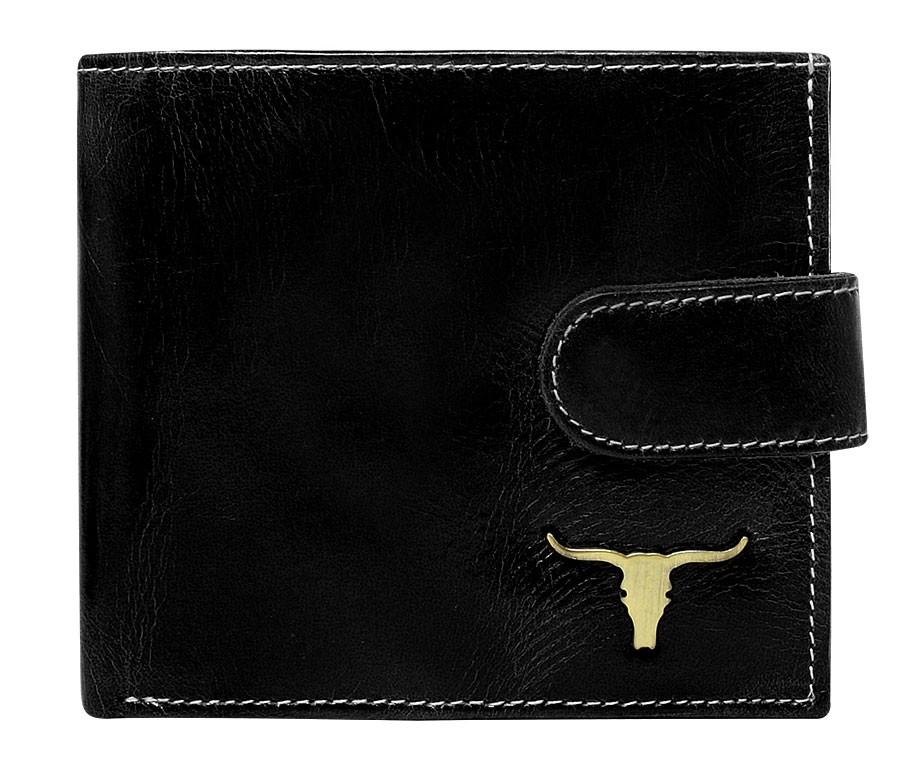 Černá pánská kožená peněženka RFID v krabičce WILD