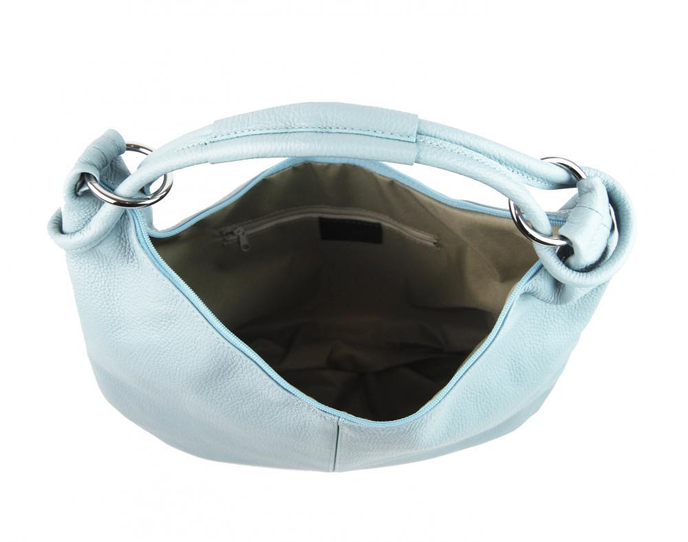 Kožená dámska kabelka cez plece Reba svetlá staroružová
