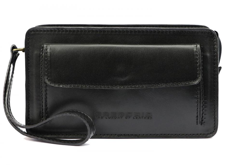 Černá kožená pánská dokladová taška / etue Gregorio 2123